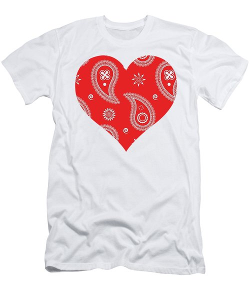 Red Paisley Men's T-Shirt (Athletic Fit)