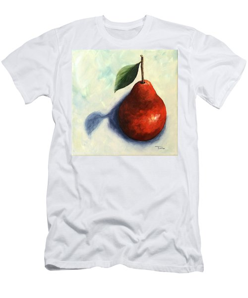 Red Pear In The Spotlight Men's T-Shirt (Athletic Fit)