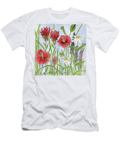 Red Poppies Men's T-Shirt (Athletic Fit)