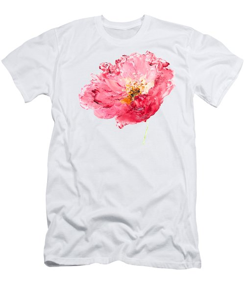 Red Poppy Painting Men's T-Shirt (Athletic Fit)