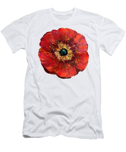Red Poppy Transparent  Men's T-Shirt (Athletic Fit)
