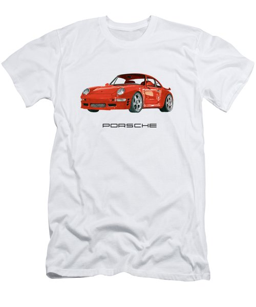 Red Porsche 993 1997 Twin Turbo R Men's T-Shirt (Athletic Fit)