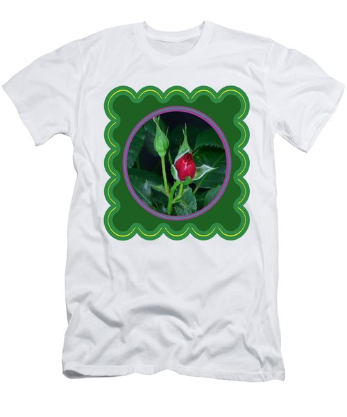 Red Rose Bud Flower Floral Posters Photography And Graphic Fusion Art Navinjoshi Fineartamerica Pixe Men's T-Shirt (Athletic Fit)