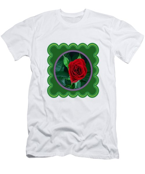 Red Rose Flower Floral Posters Photography And Graphic Fusion Art Navinjoshi Fineartamerica Pixels Men's T-Shirt (Athletic Fit)