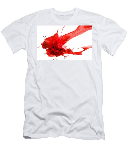 Red Rose Men's T-Shirt (Slim Fit) by Gabriella Weninger - David