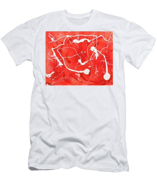 Red Spill Men's T-Shirt (Athletic Fit)