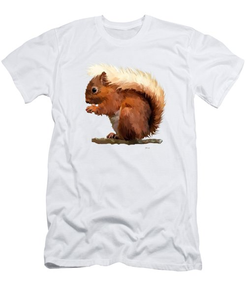 Red Squirrel Men's T-Shirt (Slim Fit) by Bamalam  Photography