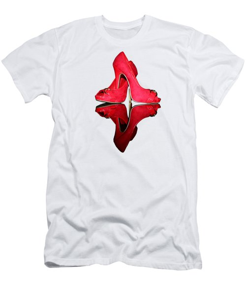Red Stiletto Shoes On Transparent Background Men's T-Shirt (Athletic Fit)