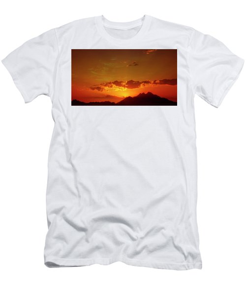 Red Sunset In Africa 2 Men's T-Shirt (Athletic Fit)