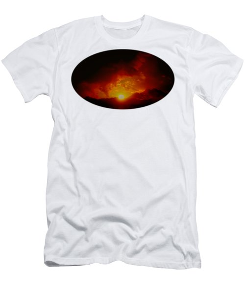 Red Sunset In Africa Men's T-Shirt (Athletic Fit)