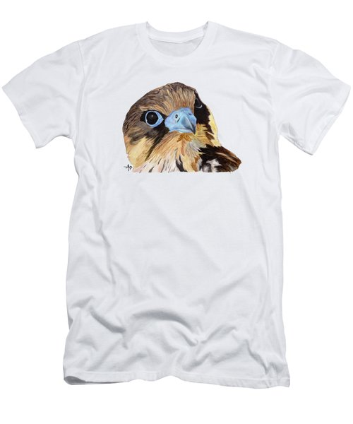 Men's T-Shirt (Athletic Fit) featuring the painting Red-tailed Hawk Portrait by Angeles M Pomata