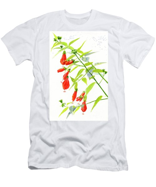 Red Turks Cap Hibiscus Men's T-Shirt (Athletic Fit)