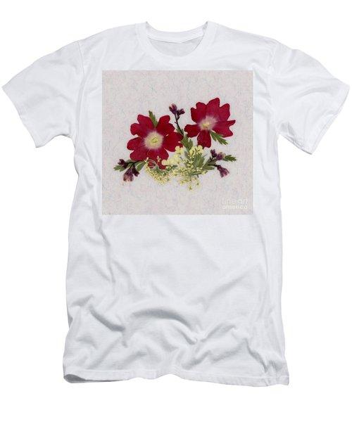 Red Verbena Pressed Flower Arrangement Men's T-Shirt (Athletic Fit)