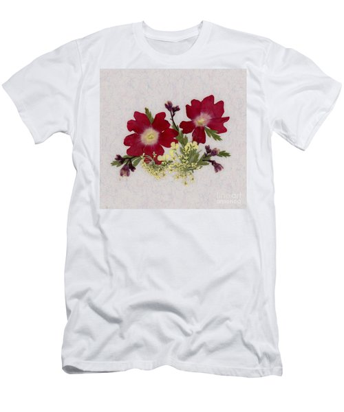 Red Verbena Pressed Flower Arrangement Men's T-Shirt (Athletic Fit)