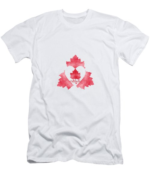 Red White And Canadian Men's T-Shirt (Athletic Fit)