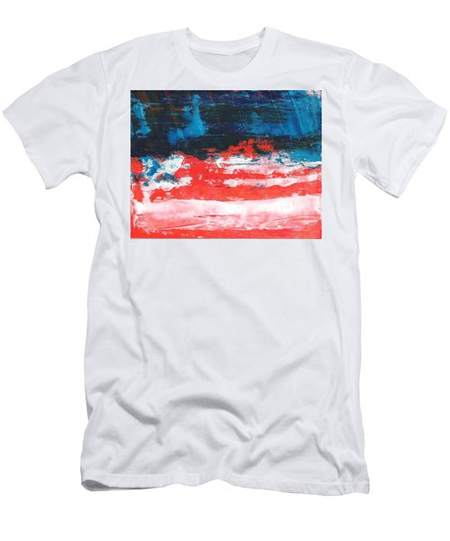 Red White Blue Scene Men's T-Shirt (Athletic Fit)