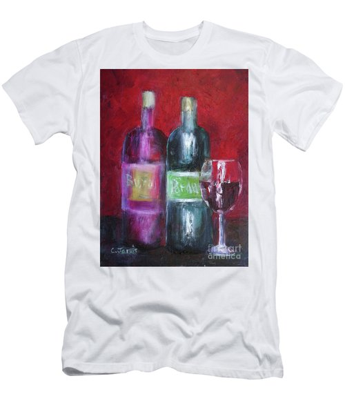 Red Wine Art Men's T-Shirt (Athletic Fit)