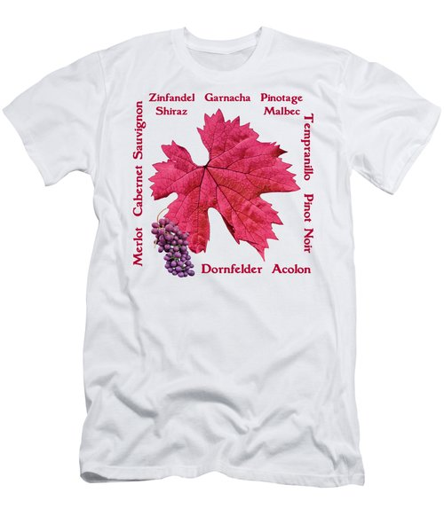 Red Wines Lettering Men's T-Shirt (Athletic Fit)