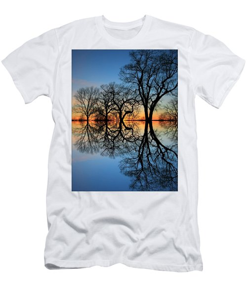 Men's T-Shirt (Slim Fit) featuring the photograph Reflecting On Tonight by Chris Berry