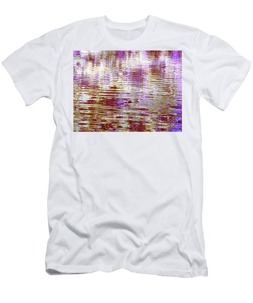 Reflecting Purple Water Men's T-Shirt (Athletic Fit)