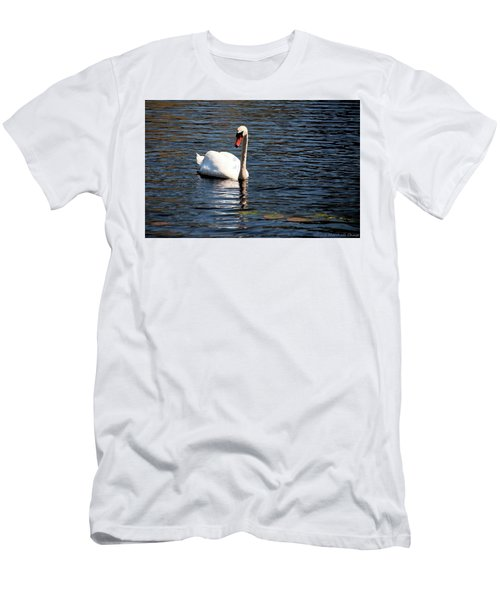 Reflecting Swan Men's T-Shirt (Athletic Fit)