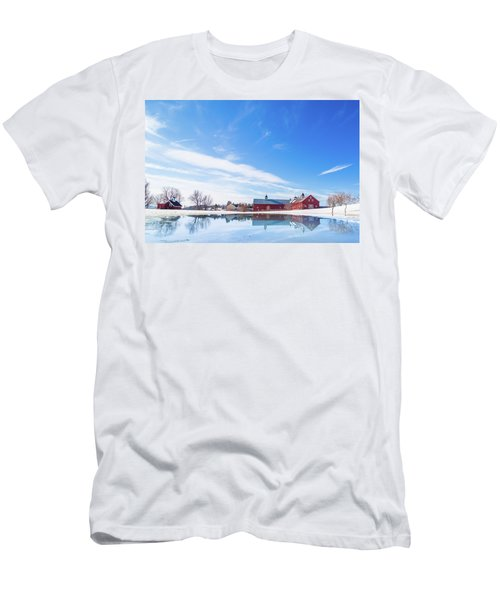 Reflection Of A Barn In Winter Men's T-Shirt (Athletic Fit)