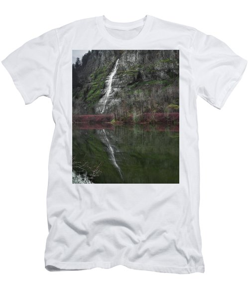 Reflection Of A Waterfall Men's T-Shirt (Athletic Fit)