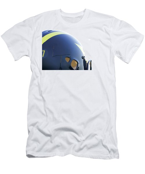 Reflection Of Goal Post In Wolverine Helmet Men's T-Shirt (Athletic Fit)