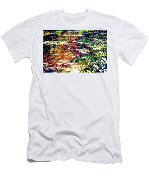 Reflection On Oscar - Claude Monet's  Garden Pond  Men's T-Shirt (Athletic Fit)