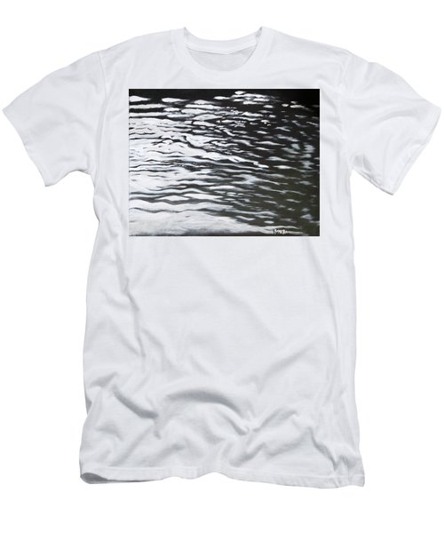 Men's T-Shirt (Slim Fit) featuring the painting Reflections by Antonio Romero
