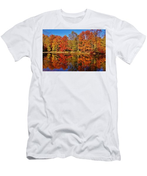 Reflections In Autumn Men's T-Shirt (Slim Fit) by Ed Sweeney