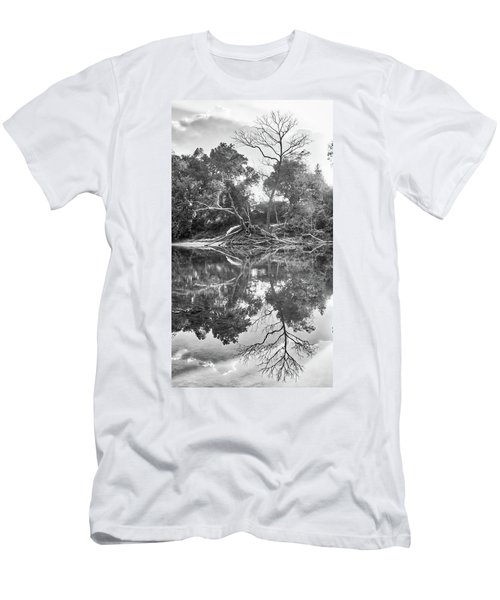 Reflections In Black And White Men's T-Shirt (Athletic Fit)