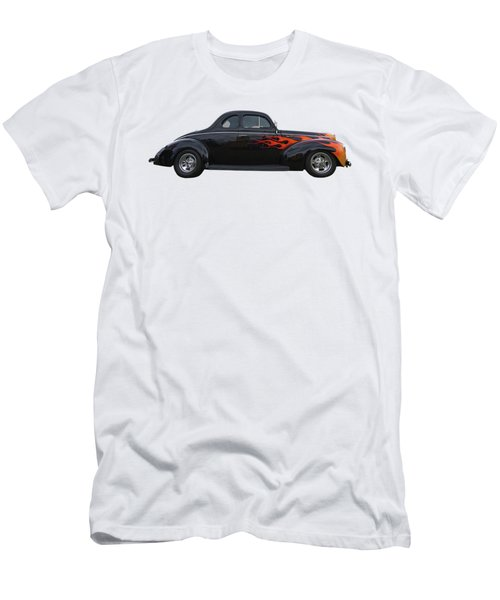 Reflections Of A 1940 Ford Deluxe Hot Rod With Flames Men's T-Shirt (Slim Fit) by Gill Billington