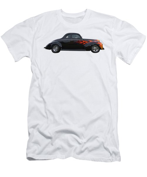Reflections Of A 1940 Ford Deluxe Hot Rod With Flames Men's T-Shirt (Athletic Fit)