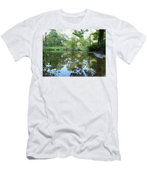 Men's T-Shirt (Slim Fit) featuring the photograph Reflections Of Beetree Run by Donald C Morgan