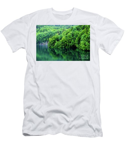 Reflections Of Plitvice, Plitvice Lakes National Park, Croatia Men's T-Shirt (Athletic Fit)