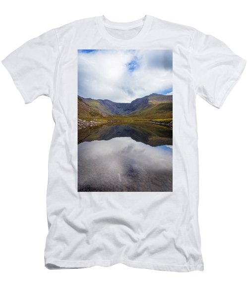 Reflections Of The Macgillycuddy's Reeks In Lough Eagher Men's T-Shirt (Slim Fit) by Semmick Photo