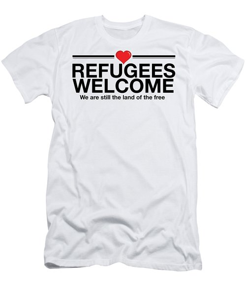 Refugees Welcome Men's T-Shirt (Athletic Fit)