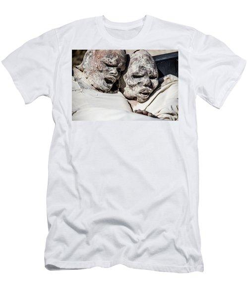 Refuges  Men's T-Shirt (Slim Fit) by Patrick Boening