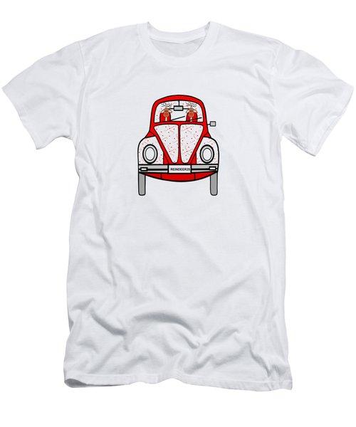 Reindeer Transportation Men's T-Shirt (Slim Fit) by Kathleen Sartoris