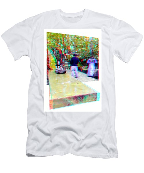 Renaissance Slide - Red-cyan 3d Glasses Required Men's T-Shirt (Athletic Fit)