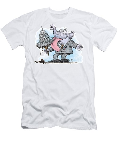 Republicans Lick Congress Men's T-Shirt (Athletic Fit)