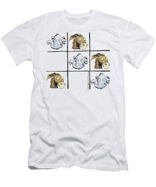 Republicans Win Tic Tac Toe Men's T-Shirt (Athletic Fit)