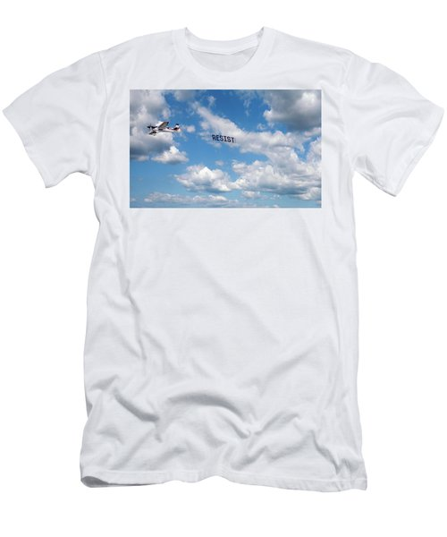 Resist Airplane Men's T-Shirt (Athletic Fit)