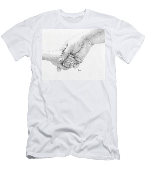 Men's T-Shirt (Slim Fit) featuring the drawing Responsibility by Annemeet Hasidi- van der Leij