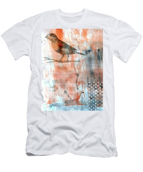 Men's T-Shirt (Athletic Fit) featuring the mixed media Restful Moment by Rose Legge