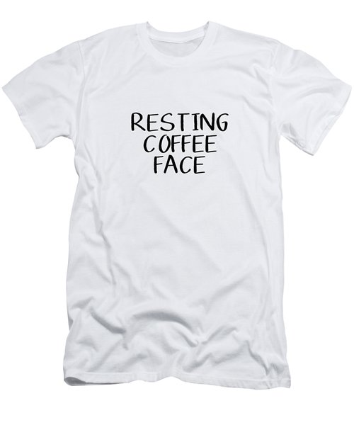 Resting Coffee Face-art By Linda Woods Men's T-Shirt (Athletic Fit)