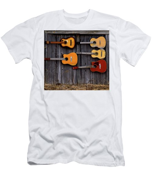 Retired Guitars  Men's T-Shirt (Athletic Fit)