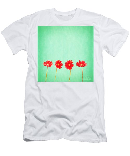 Retro Flowers Men's T-Shirt (Athletic Fit)