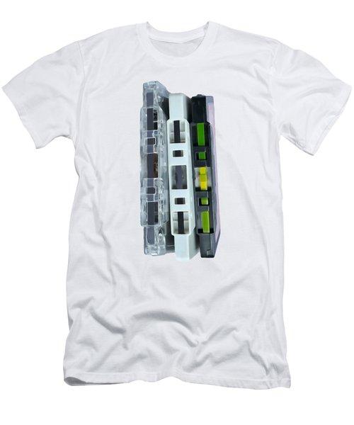 Retro Music Cassette Tapes Tee Men's T-Shirt (Athletic Fit)